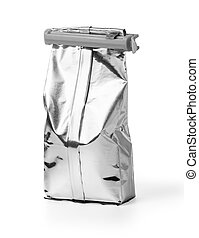 Aluminum bag isolated