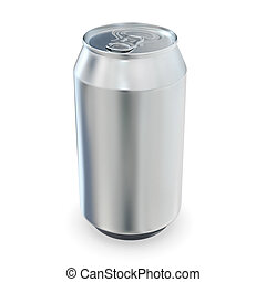 Aluminum beer cans - Aluminum beer can - isolated over white...
