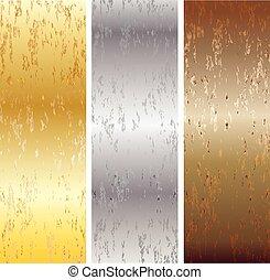 Aluminum, bronze and brass stitched
