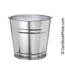 Aluminum Bucket isolated on a white background