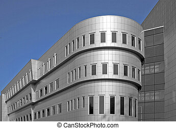 Aluminum building - New modern office building with aluminum...