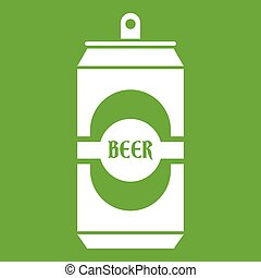 Aluminum can icon green