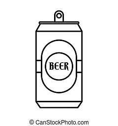 Aluminum can icon, outline style