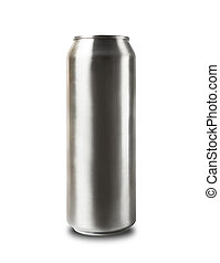Aluminum can isolated on white.