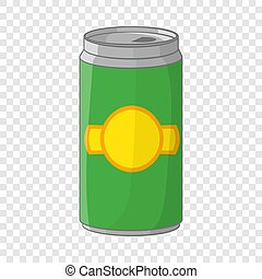 Aluminum cans for beer icon, cartoon style