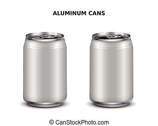 Aluminum cans mockup