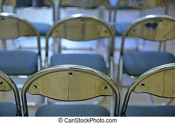 Aluminum chairs with comfortable soft seats