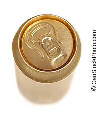 Aluminum drink can isolated