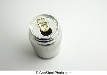 Aluminum drink can template for milk or juice design,Steel cans on a white background.