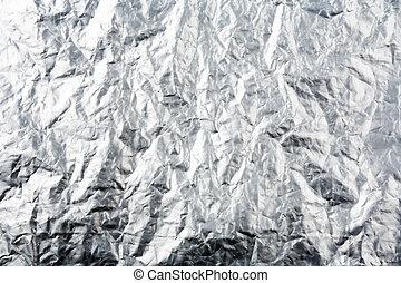 Aluminum Foil Texture - Crumpled plastic coated aluminum...