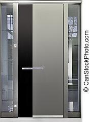 Aluminum Front Door - Massive Metallic Entry Front Door