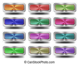 Aluminum glossy icon, button,