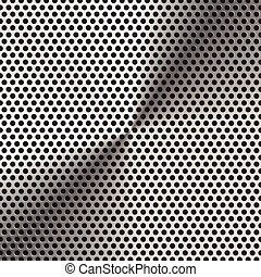Aluminum grate texture and background vector