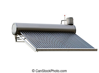 Solar Water Heater Energy System isolated