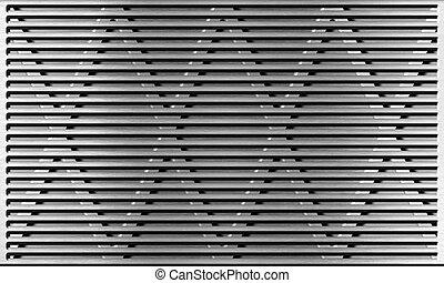 aluminum metal grate industrial background