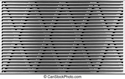 aluminum metal grate industrial background