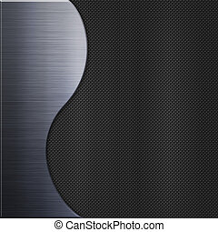 Carbon fibre texture and aluminum metal plate background