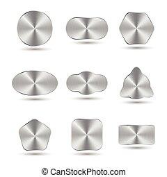 aluminum or metal button, illustration vector
