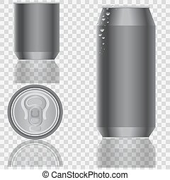 Aluminum packaging for beverages. Vector illustration.