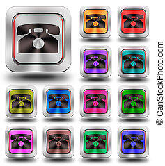 Aluminum Phone glossy icons, crazy colors #02