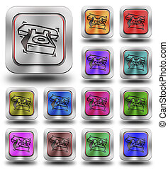 Aluminum Phone glossy icons, crazy colors #5