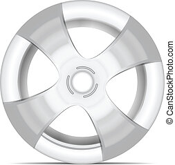 aluminum rim isolated