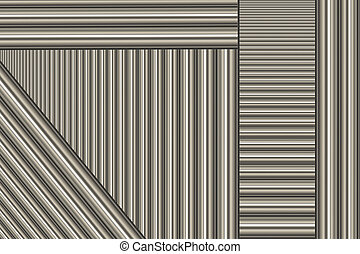 A background of silver aluminum rods