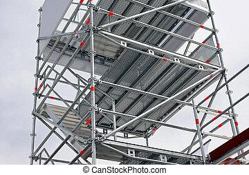 Big aluminum scaffolds platforms for building construction