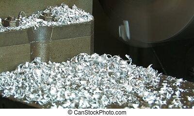 Aluminum shavings.