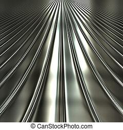 Aluminum silver stripe pattern