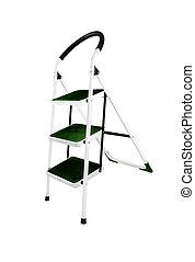 Aluminum step ladder isolated