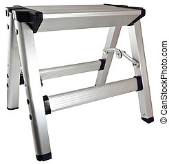 Aluminum Step Stool Ladder - Small Household Aluminum Step...