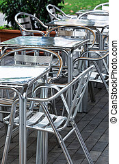 aluminum tables and chairs