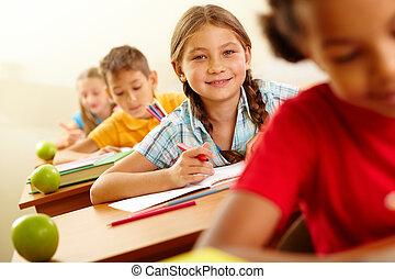 alumno, feliz