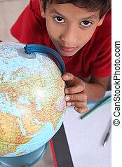 aluno, interessado, geografia