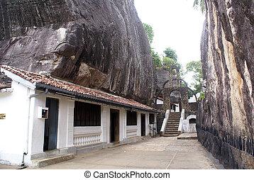 Aluvihara monastery near Matale, Sri Lanka