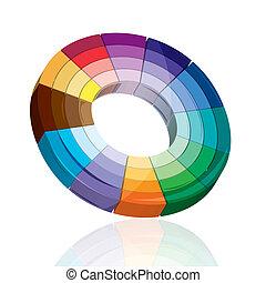 alvo, coloridos, tábua