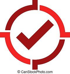 alvo, logotipo, desenho, cheque, ícone