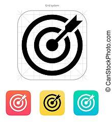 alvo, shoot., sucedido, objetivo, dardos, icon.