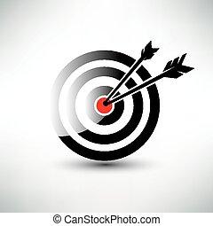 alvo, vetorial, símbolo, negócio, ícone, conceito