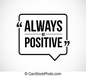 always, être, positif, illustration, citation