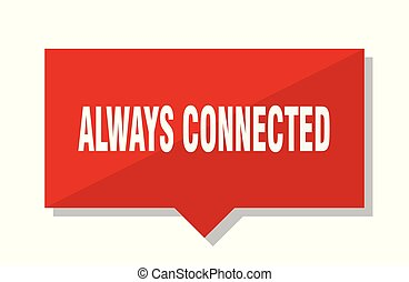 always connected red tag - always connected red square price...