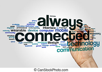 Always connected word cloud