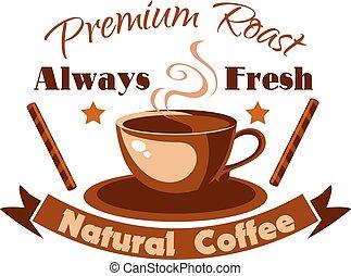 Always fresh natural coffee icon