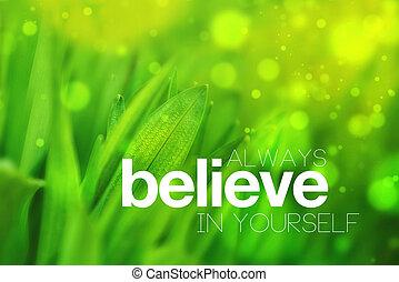always, glauben, sich