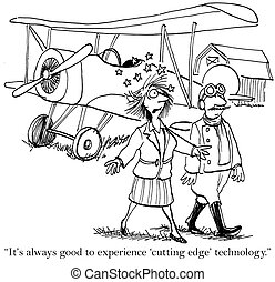 """Always good to experience the cutting edge - """"It's always..."""