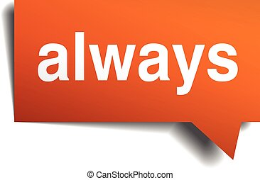 always, isolé, parole, orange, blanc, bulle