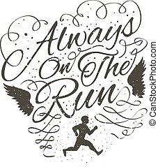 always on the run.eps - always on the run vector...