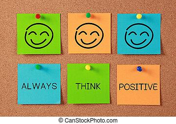 always, pensar, positivo