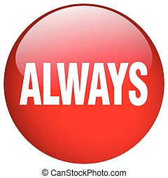 always red round gel isolated push button